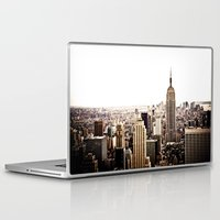 new york skyline Laptop & iPad Skins featuring New York City Skyline by Vivienne Gucwa