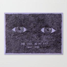 Stars in my eyes. Canvas Print