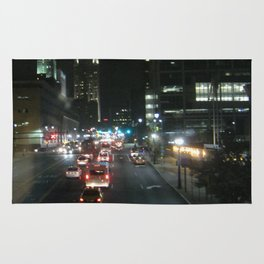 Bright sights with city lights Rug