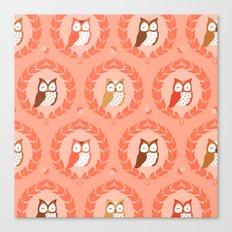 Sweet Owlies - Dawn Canvas Print