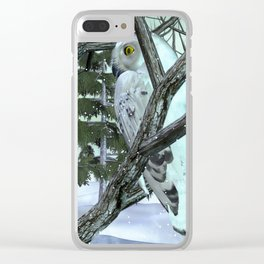 Into The Wild Snowy Owl Clear iPhone Case