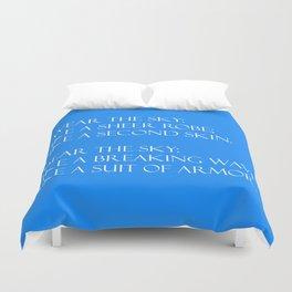 Summer air (blue) Duvet Cover