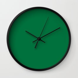 Dartmouth Green - solid color Wall Clock