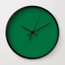 Dartmouth Green - solid color Wall Clock