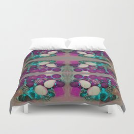 neon candy! grey Duvet Cover