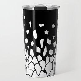 White Fragments Travel Mug