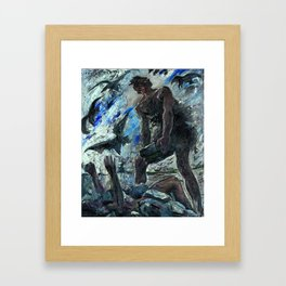 Lovis Corinth - Cain Framed Art Print