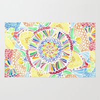kaleidoscope Area & Throw Rugs featuring Kaleidoscope by Syrupea
