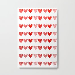 Alot hearts Metal Print