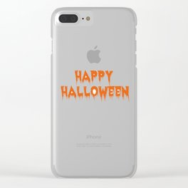happy halloween haunted Clear iPhone Case