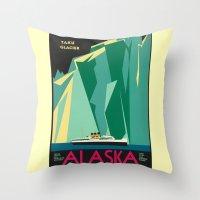 alaska Throw Pillows featuring Alaska by Kathleen Casey
