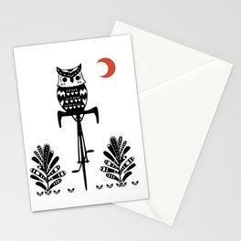 Boho Animals Owl Stationery Cards