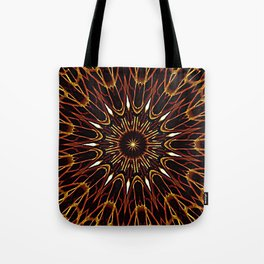 Brown Kaleidoscope Mandala Tote Bag