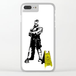 Every day heroes - Mop Champion Clear iPhone Case