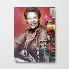 Ella Fitzgerald Collage Portrait I Metal Print