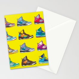 Colorful Sneaker set yellow illustration original pop art graphic print Stationery Cards