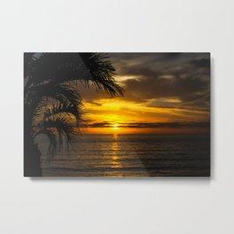 D Street - Encinitas, CA - Winter Sunset Metal Print
