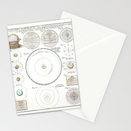 Homann Heirs Solar System Astronomical Chart Stationery Cards