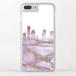 Houston Skyline Texas Clear iPhone Case