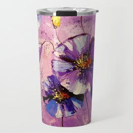 Flowers in the moonlight Travel Mug