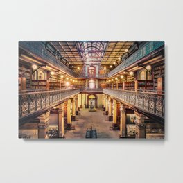 Let's Retire To The Library Metal Print
