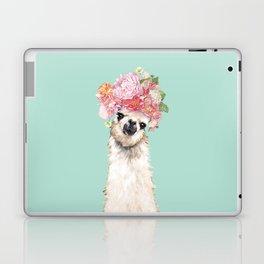 Llama with Flowers Crown #3 Laptop & iPad Skin