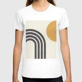 Mid century modern Sun & Rainbow T-shirt