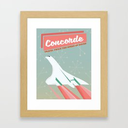 Concorde vintage travel poser Framed Art Print