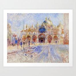 "Auguste Renoir ""The Piazza San Marco, Venice"" Art Print"
