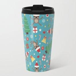 Lazy Sloth Christmas Travel Mug