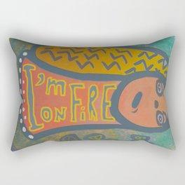 Atlantis Icon / I'm on Fire! Rectangular Pillow