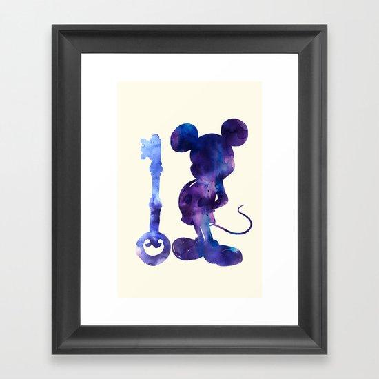 The Key Framed Art Print