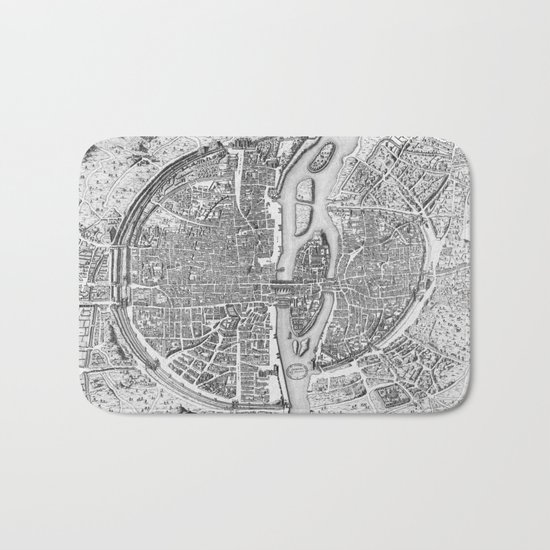 Paris map  Bath Mat