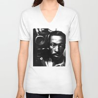 parks V-neck T-shirts featuring GORDON PARKS: Legend by Tia Hank