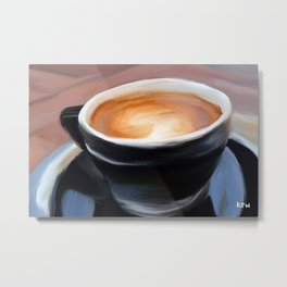 Coffee Mug Painting Metal Print