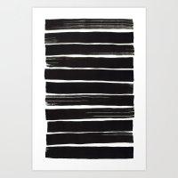 Black Bars Art Print