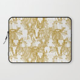 just ox gold white Laptop Sleeve