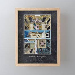 I'M THINKING OF ENDING THINGS' farm house in watercolor Framed Mini Art Print