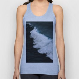 Powerful breaking wave in the Atlantic Ocean - Landscape Photography Unisex Tank Top