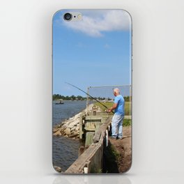Fishing On Land Or By Boat iPhone Skin