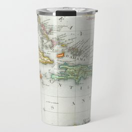 Vintage Map of The Caribbean (1846) Travel Mug