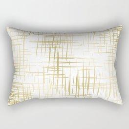 Crosshatch Gold Rectangular Pillow