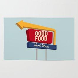 Good Food Good Mood Rug