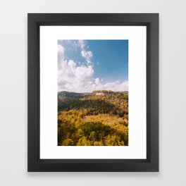 View from Chimney Top Rock - Red River Gorge, Kentucky Framed Art Print