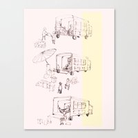 truck Canvas Prints featuring truck by Michelle Wang