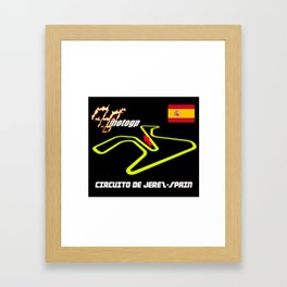 DE JEREZ CIRCUIT MOTOGP Framed Art Print
