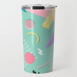 Dreaming 80s Pattern #society6 #decor #buyart Travel Mug
