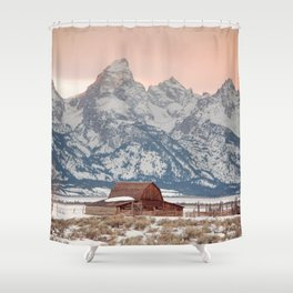 That Alpine Glow Shower Curtain