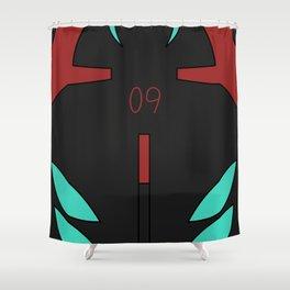Rei Rebuild Black Plugsuit Shower Curtain