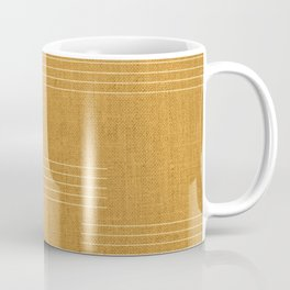 Mudcloth, Minimal, Pattern, Boho Prints, Yellow Coffee Mug